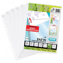 Funda Multitaladro Elba Pp 50µ Eaz´In School Life Transparente A4 11 Tal.