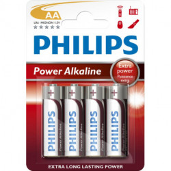 Pilas Philips Powerlife Lr06 Super Alcalina Blister De 4