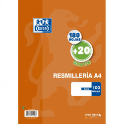 Papel Oxford School A4 200h (180+20) 90gr Liso Naranja