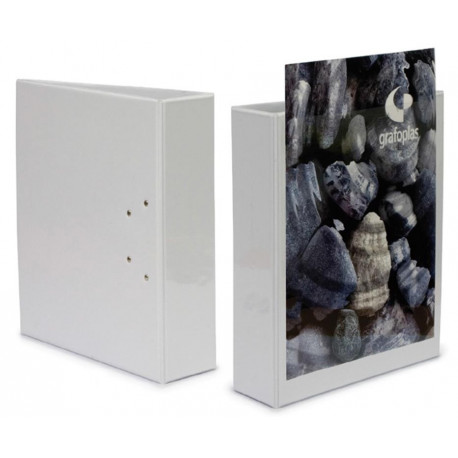 Carpeta Canguro Grafoplas Pvc A4 2 An.Mixtas 25mm Blanco