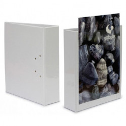 Carpeta Canguro Grafoplas Pvc A4 4 An.Mixtas 25mm Blanco