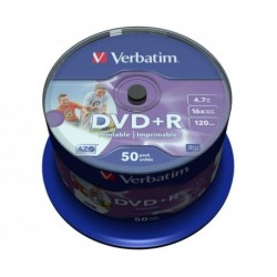 Dvd +R Verbatim 4.7gb 16x Spindle 50 Imprimible Inkjet Advanced Azo (Incluye Canon Lpi De 10.50 €)