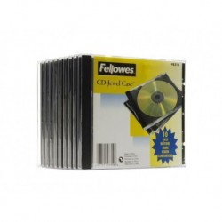 Archivo Cd/Dvd Ancho 10mm Negro Pack De 10
