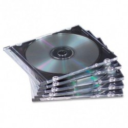 Archivo Cd Fellowes Estuche Plano Transparente De 1 Pack De 25