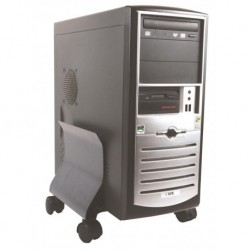 Soporte Cpu Fellowes Metalico Con Ruedas Grafito