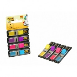 "Banderitas Adhesivas Post-It 683 (1/2"") Pack De 4 (Amarillo-Azul-Rosa-Violeta)"