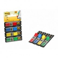 "Banderitas Adhesivas Post-It 683 (1/2"") Pack De 4 (Azul-Amarillo-Rojo-Verde)"