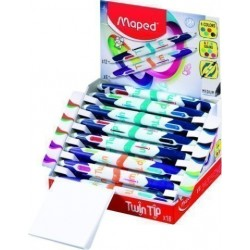 Boligrafo De 4 Colores Maped Twin Tip (12 Standard+6 Funcy) Expositor De 18