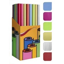 Papel De Regalo Rollo Tv 0,7x2 M (Caja De 60) Liso