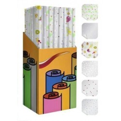 Papel De Regalo Rollo Tv 0,7x1,5 M (Caja De 60) Pp Transparente