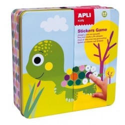 Stickers Game Rs Apli Kids Caja Metalica Pre-Escolar Animales