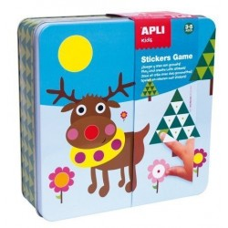 Stickers Game Rs Apli Kids Caja Metalica Pre-Escolar Polar