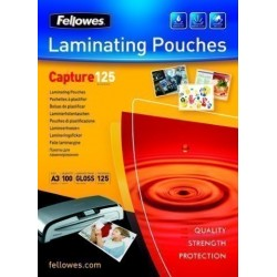 Funda Plastificar Fellowes Brillo 303x426 (A3) 125µ Paquete De 100