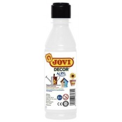 Pintura Latex Jovi Decor 250 Ml (Botella) Blanco