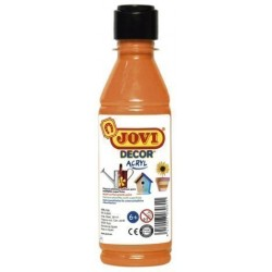 Pintura Latex Jovi Decor 250 Ml (Botella) Naranja