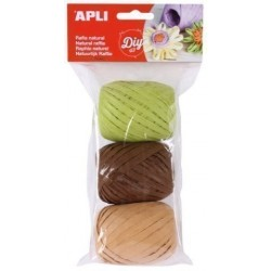 Rafia Apli Natural 30 M Colores Nature Bolsa De 3