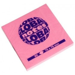 Taco Notas Global Notes 80h 75x75 Rosa Brillante
