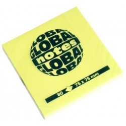 Taco Notas Global Notes 80h 75x75 Amarillo Brillante