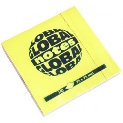 Taco Notas Global Notes 100h 75x75 Colores Brillantes (4x25h)
