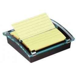 Dispensador Post-It Millenium Negro + Taco Notas Post-It Z-Notas Super Sticky