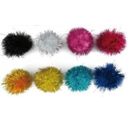 Pom Pom Smart Colores Brillantes 5 Cm. Surtidos Pack De 52