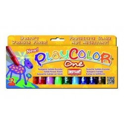Tempera Instant Solida Playcolor One 10gr. Estuche De 12 Colores