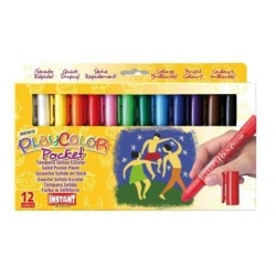 Tempera Instant Solida Playcolor Pocket 5gr. Estuche De 12 Colores