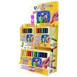 Tempera Instant Solida Playcolor Pocket 5gr. Expositor De 144 (12 Estuches De 6 Colores Y 6 Estuches De 12 Colores)