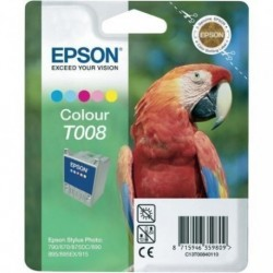 Cartucho Inkjet Epson T008401 Stylus Photo 790/870/875dc/890/895/915 Color 46ml