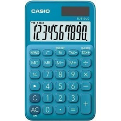 Calculadora De Bolsillo Casio 10 Digitos Sl-310 Uc Azul