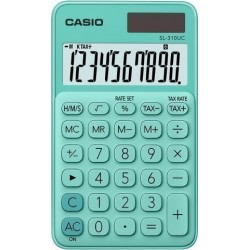 Calculadora De Bolsillo Casio 10 Digitos Sl-310 Uc Verde