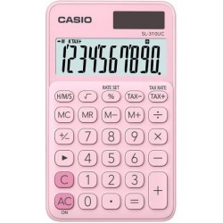 Calculadora De Bolsillo Casio 10 Digitos Sl-310 Uc Rosa