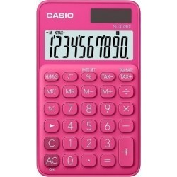 Calculadora De Bolsillo Casio 10 Digitos Sl-310 Uc Rojo