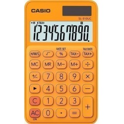 Calculadora De Bolsillo Casio 10 Digitos Sl-310 Uc Naranja