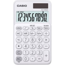 Calculadora De Bolsillo Casio 10 Digitos Sl-310 Uc Blanco