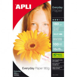 Papel Inkjet Apli Foto A6 (10x15) 180g 100h Glossy (Everyday)