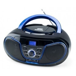 Radio Cd Daewoo Mp3 Dbu-62 Usb Negro/Azul 2x2w