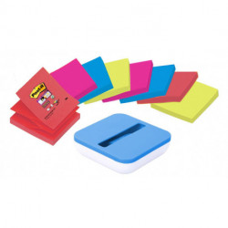 Dispensador Post-It Pro Azul Val + 8 Taco Notas Super-Sticky Z-Notas