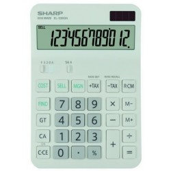 Calculadora De Sobremesa Sharp 12 Digitos El-338gn