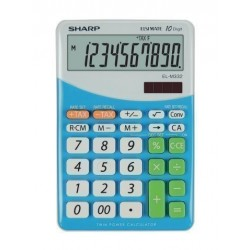 Calculadora De Sobremesa Sharp 10 Digitos El-M332 Azul