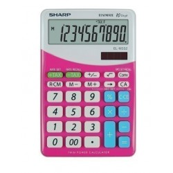 Calculadora De Sobremesa Sharp 10 Digitos El-M332 Rosa