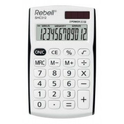 Calculadora De Bolsillo Rebell 12 Digitos Shc-312 Negro