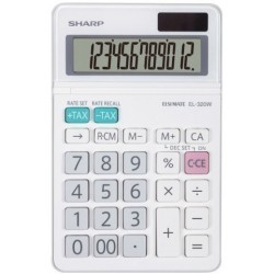 Calculadora De Sobremesa Sharp 12 Digitos El-320w