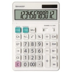 Calculadora De Sobremesa Sharp 12 Digitos El-340w
