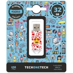 Memoria Usb 32gb Techonetech Heart-Eyes (Incluye Canon Lpi De 0.24 €)