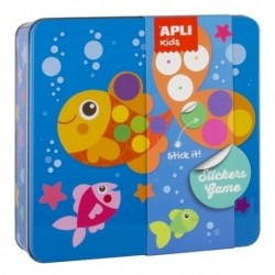 Stickers Game Rs Apli Kids Caja Metalica Pez