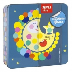 Stickers Game Rs Apli Kids Caja Metalica Luna