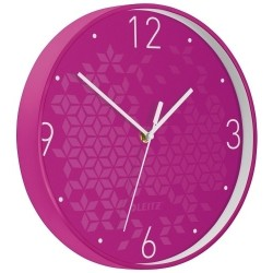 Reloj Pared Leitz Wow Analogico 29 Cm Ø Fucsia