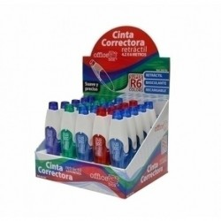Corrector Cinta Office Box Supra 4,2mm X 6m Expositor De 25
