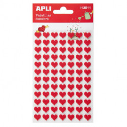 Stickers Apli Bolsa 2h Fieltro Corazon Rojo (13511)
